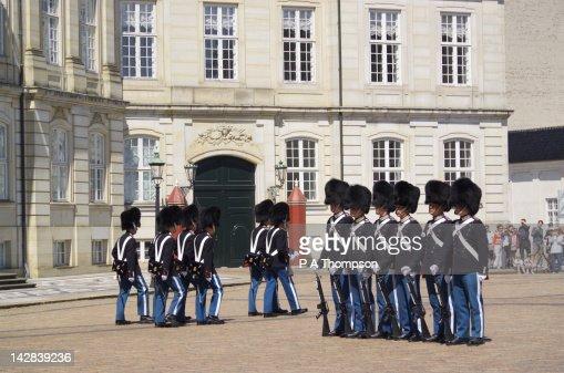Changing of the Guard, Amalienborg Palace, Copenhagen, Denmark