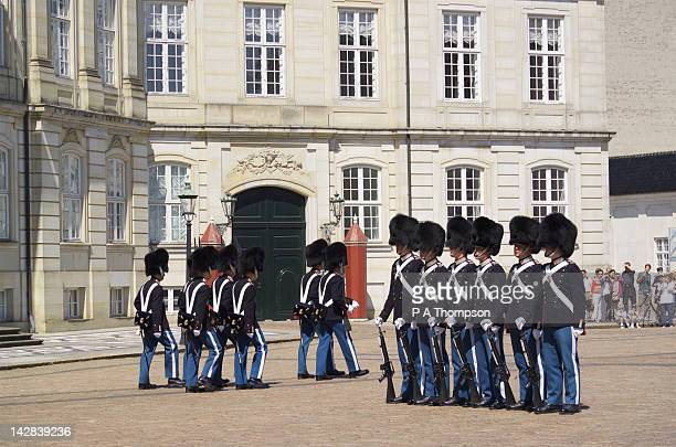 Changing of the Guard, Amalienborg Palace, Copenhagen, Denmark