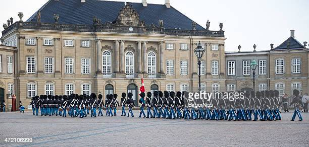 Changing of the guard at Amalienborg Castle