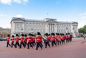Changing of the Guard at Buckingham Palace London UK