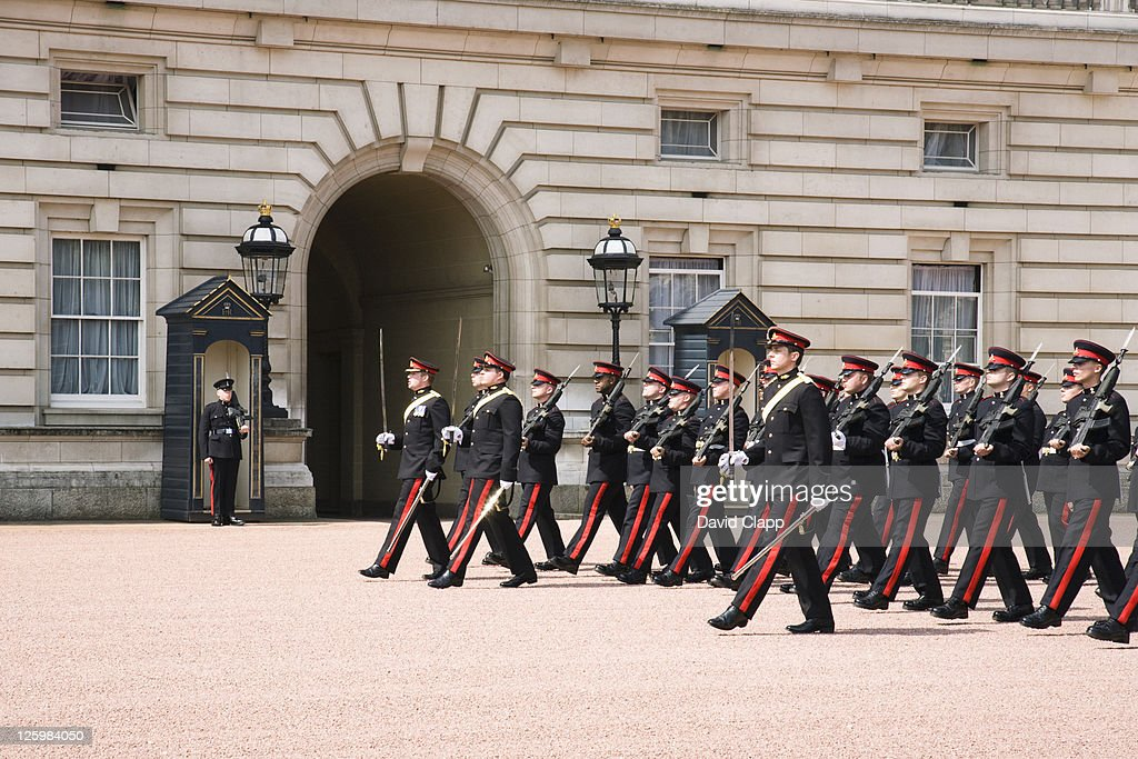 Changing of the Guard, Buckingham Palace, London, UK : Stock Photo