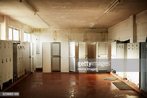 Changing rooms in glass factory