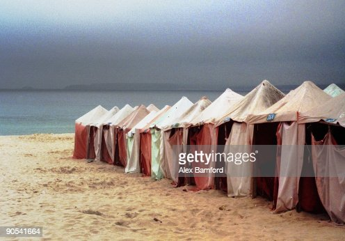 Changing tents : Stock Photo