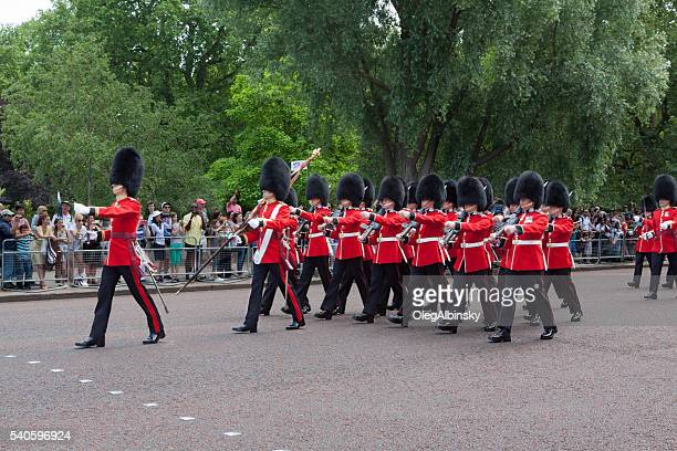 Changing the Guard at Buckingham Palace, London, England.