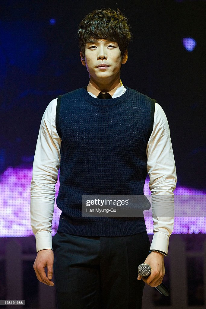 Changmin of South Korean boy band 2AM performs live during their the second album 'One Spring Day' Showcase event at Ilchi Art Hall on March 4 2013...