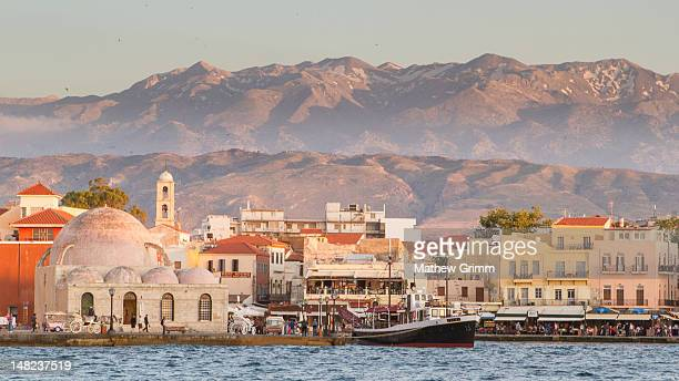 Chania and white mountains