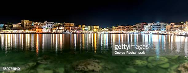 Chania town by night