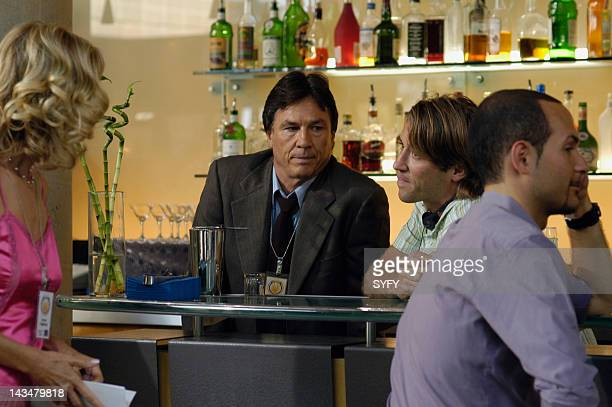 Channel 'Colonial Day' Episode 11 Aired 1/10/05 Pictured Kate Vernon as Ellen Tigh Richard Hatch as Tom Zarek Director Jonas Pate Unknown