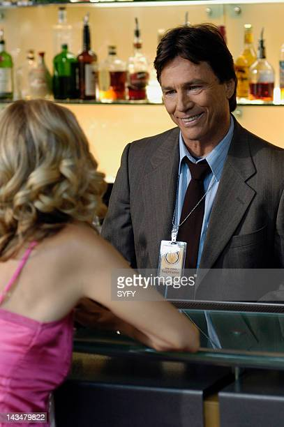 Channel 'Colonial Day' Episode 11 Aired 1/10/05 Pictured Kate Vernon as Ellen Tigh Richard Hatch as Tom Zarek