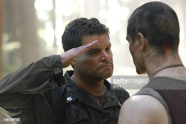 Channel 'Fragged' Episode 3 Aired Pictured Aaron Douglas as Senior Chief Petty Officer Galen Tyrol Samuel Witwer as Lieutenant Alex 'Crashdown'...