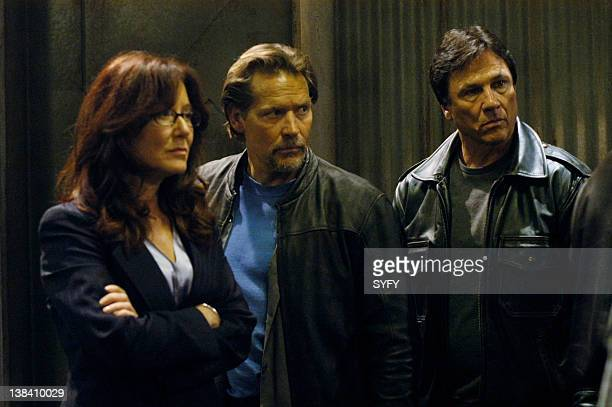 Channel 'Home Part 1' Episode 6 Air Date Pictured Mary McDonnell as President Laura Roslin James Remar as Meier Richard Hatch as Tom Zarek