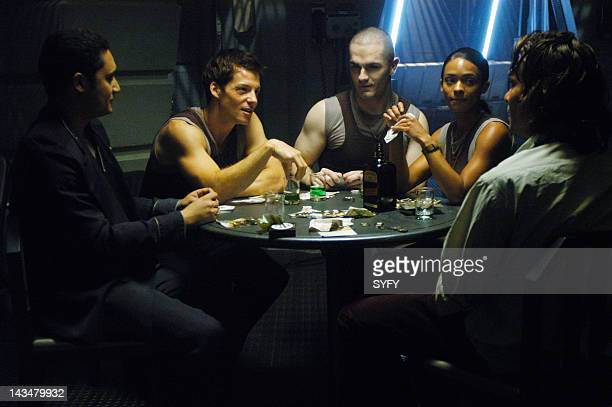 Channel 'Kobol's Last Gleaming Part 1 2' Episode 12 13 Aired 1/17/05 01/24/05 Pictured Alessandro Juliani as Lt Felix Gaeta Jamie Bamber as Captain...