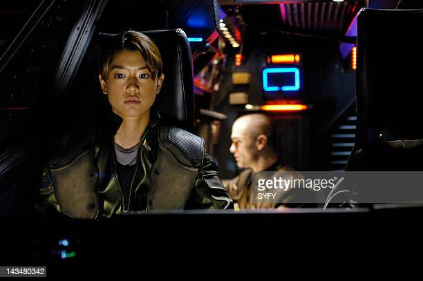 Channel 'Kobol's Last Gleaming Part 1 2' Episode 12 13 Aired 1/17/05 01/24/05 Pictured Grace Park as Lt Sharon 'Boomer' Valerii Sam Witwer as...