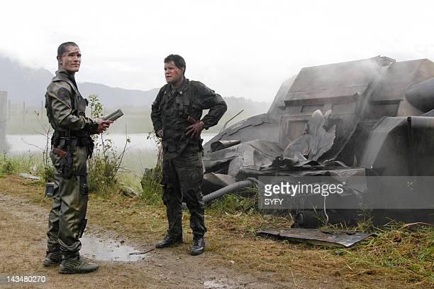 Channel 'Kobol's Last Gleaming Part 1 2' Episode 12 13 Aired 1/17/05 01/24/05 Pictured Sam Witwer as Crashdown Aaron Douglas as Chief Petty Officer...