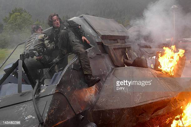 Channel 'Kobol's Last Gleaming Part 1 2' Episode 12 13 Aired 1/17/05 01/24/05 Pictured Sam Witwer as Crashdown James Callis as Dr Gaius Baltar