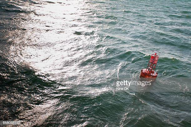 Channel marker in harbor
