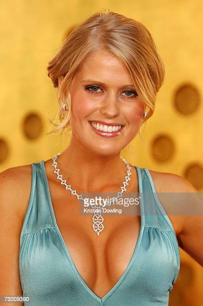 Channel Nine TV Personality Georgia Sinclair arrives at the 2007 Allan Border Medal at Crown Casino on February 5 2007 in Melbourne Australia