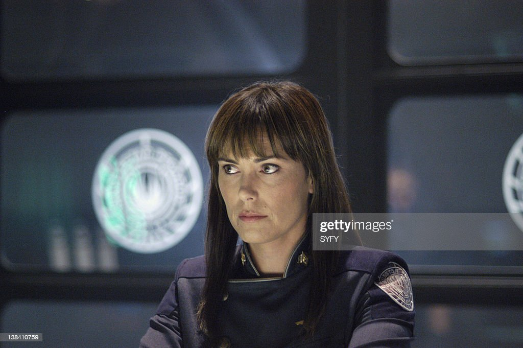 Channel 'Pegasus' Episode 10 Air Date Pictured Michelle Forbes as Admiral Helena Cain