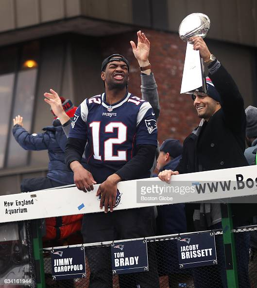 851f005c7 10 with 49ers Tom Brady and Jimmy Garoppolo New England Patriots Super Bowl  LI Victory Parade Pictures Getty Images ...
