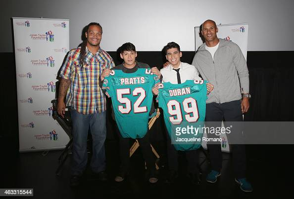 Channing Crowder Carlos Pratts Hector Duran and Jason Taylor attend the Private Screening of McFarland USA with Actors Carlos Pratts and Hector Duran...