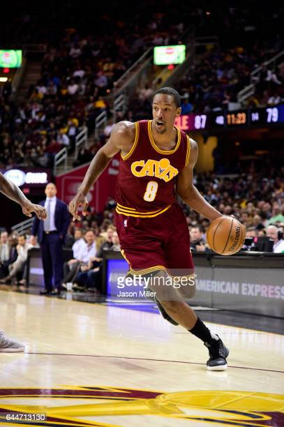 Channing Frye of the Cleveland Cavaliers drives to the basket during the second half against the New York Knicks at Quicken Loans Arena on February...