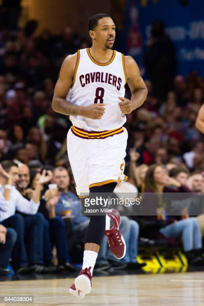 Channing Frye of the Cleveland Cavaliers runs down the court during the first half against the Portland Trail Blazers at Quicken Loans Arena on...