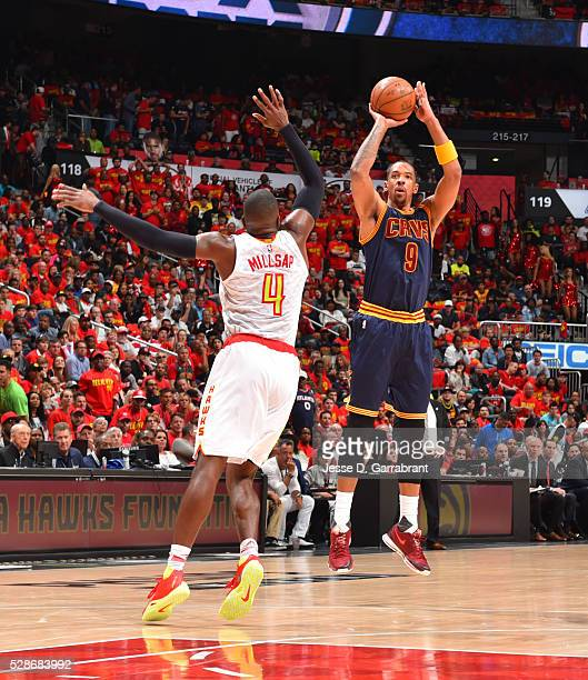 Channing Frye of the Cleveland Cavaliers shoots the ball against the Atlanta Hawks during the Eastern Conference Semifinals Game Three on May 6 2016...