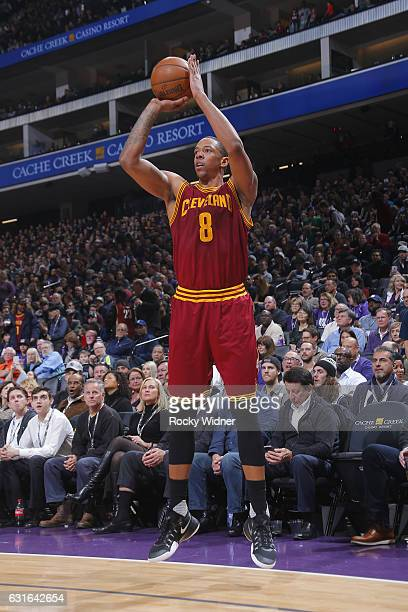 Channing Frye of the Cleveland Cavaliers shoots the ball against the Sacramento Kings during the game on January 13 2017 at Golden 1 Center in...