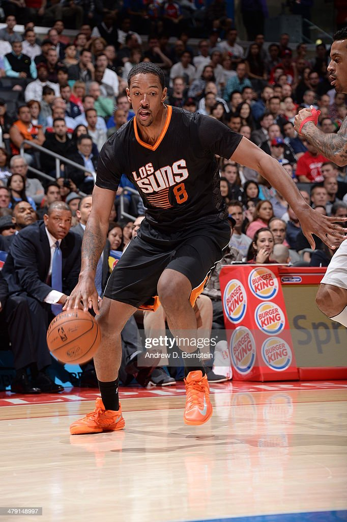<a gi-track='captionPersonalityLinkClicked' href=/galleries/search?phrase=Channing+Frye&family=editorial&specificpeople=206815 ng-click='$event.stopPropagation()'>Channing Frye</a> #8 of the Phoenix Suns drives to the basket against the Los Angeles Clippers at Staples Center on March 10, 2014 in Los Angeles, California.