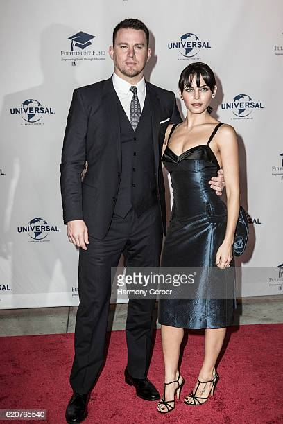 Channing Tatum and Jenna Dewan arrive at the 22nd Fulfillment Fund Stars Benefit Gala at The Globe Theatre at Universal Studios on November 2 2016 in...