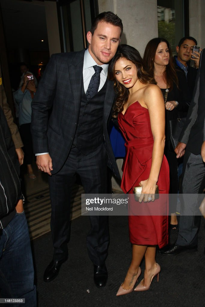 Channing Tatum and Jenna Dewan arrive for the European Premiere of Magic Mike at The Mayfair Hotel on July 10, 2012 in London, England.