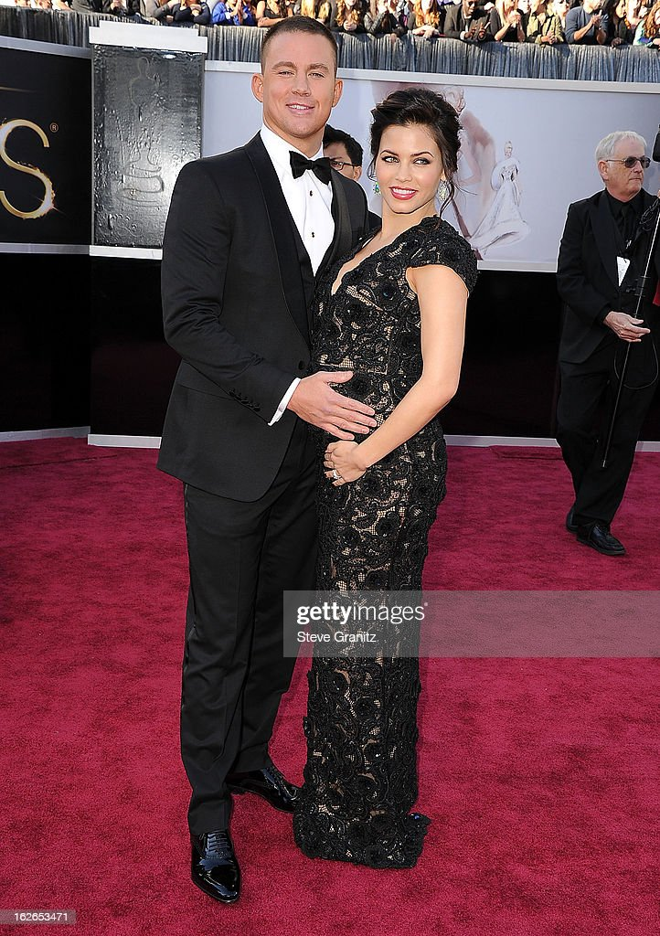 Channing Tatum and Jenna Dewan arrives at the 85th Annual Academy Awards at Dolby Theatre on February 24, 2013 in Hollywood, California.