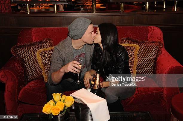 Channing Tatum and Jenna Dewan attend Strip House restaurant at Planet Hollywood Casino Resort on February 6 2010 in Las Vegas Nevada