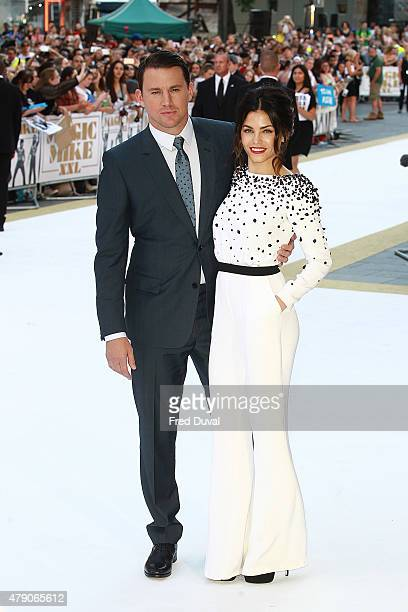 Channing Tatum and Jenna Dewan attend the European Premiere of 'Magic Mike XXL' at Vue West End on June 30 2015 in London England