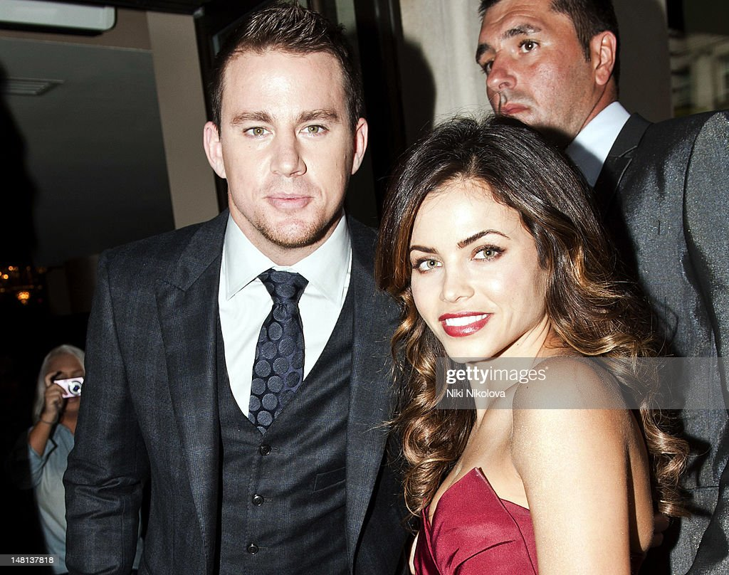 Channing Tatum and Jenna Dewan sighting on July 10, 2012 in London, England.