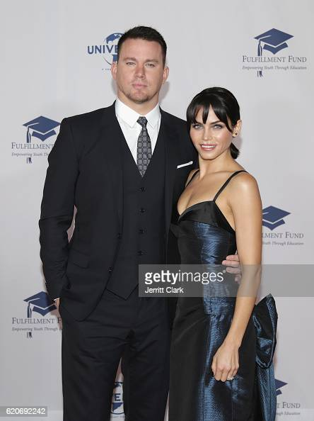 Channing Tatum and Jenna Dewan Tatum attend the 22nd Fulfillment Fund Stars Benefit Gala Arrivals at The Globe Theatre at Universal Studios on...