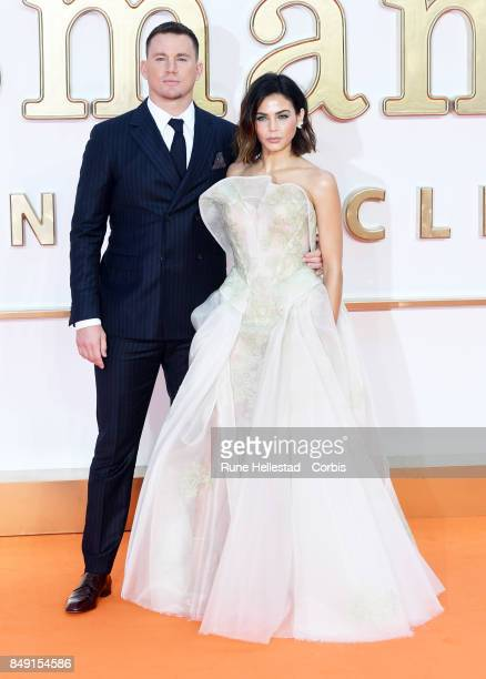 Channing Tatum and Jenna Dewan Tatum attend the UK premiere of 'Kingsman The Golden Circle' at Odeon Leicester Square on September 18 2017 in London...