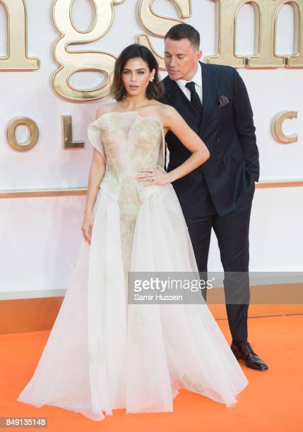 Channing Tatum and Jenna Dewan Tatum attends the 'Kingsman The Golden Circle' World Premiere held at Odeon Leicester Square on September 18 2017 in...
