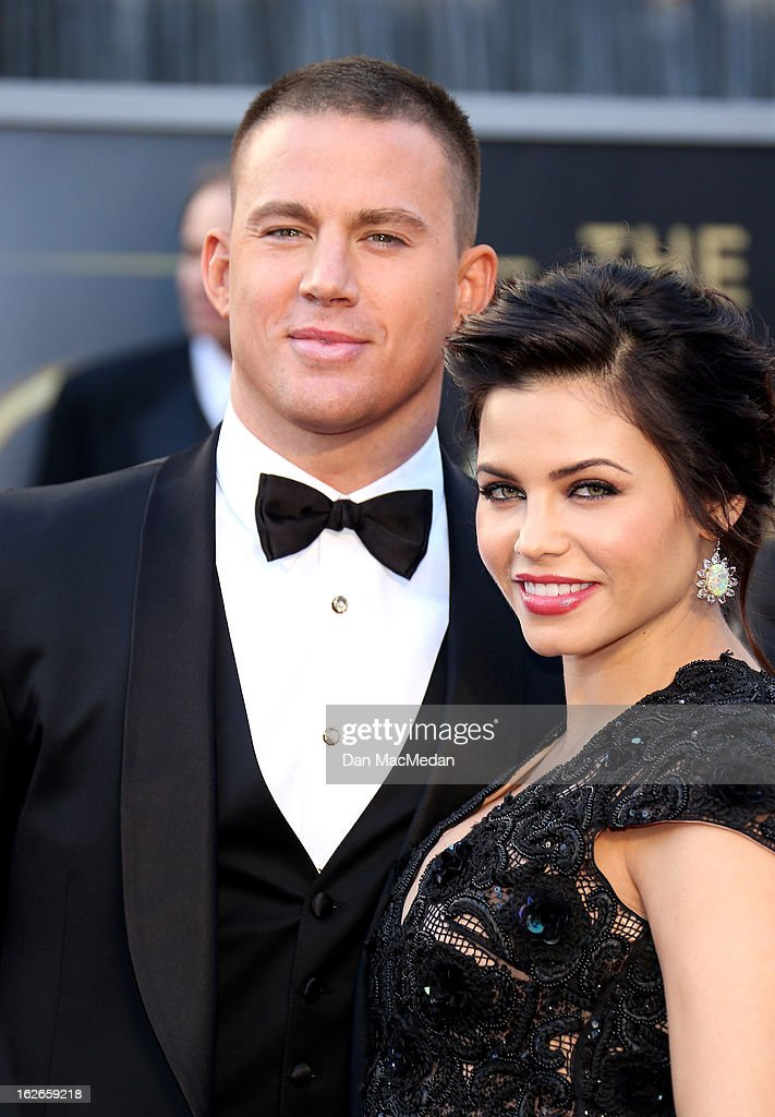 <a gi-track='captionPersonalityLinkClicked' href=/galleries/search?phrase=Channing+Tatum&family=editorial&specificpeople=549548 ng-click='$event.stopPropagation()'>Channing Tatum</a> and Jenna Dewan-Tatum arrive at the 85th Annual Academy Awards at Hollywood & Highland Center on February 24, 2013 in Hollywood, California.