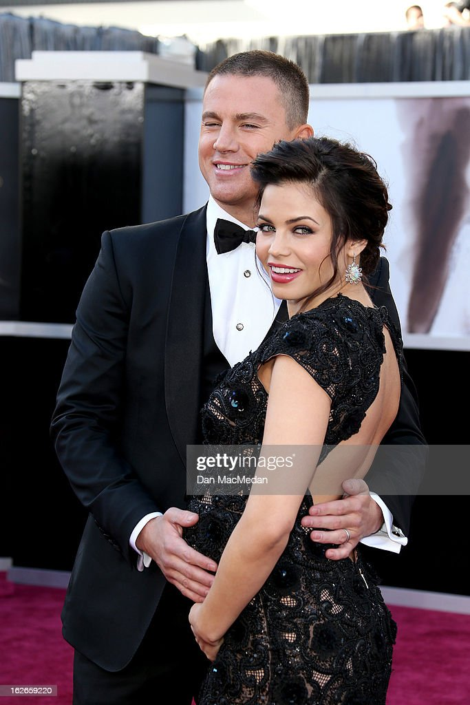 Channing Tatum and Jenna Dewan-Tatum arrive at the 85th Annual Academy Awards at Hollywood & Highland Center on February 24, 2013 in Hollywood, California.
