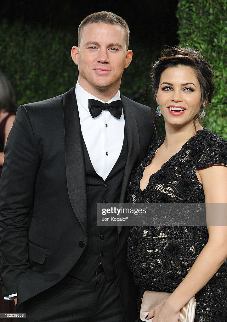 Channing Tatum and Jenna Dewan-Tatum attend the 2013 Vanity Fair Oscar party at Sunset Tower on February 24, 2013 in West Hollywood, California.