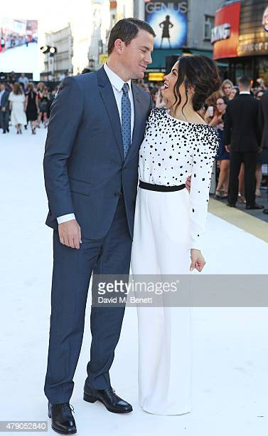 Channing Tatum and Jenna DewanTatum attend the UK Premiere of 'Magic Mike XXL' at the Vue West End on June 30 2015 in London England