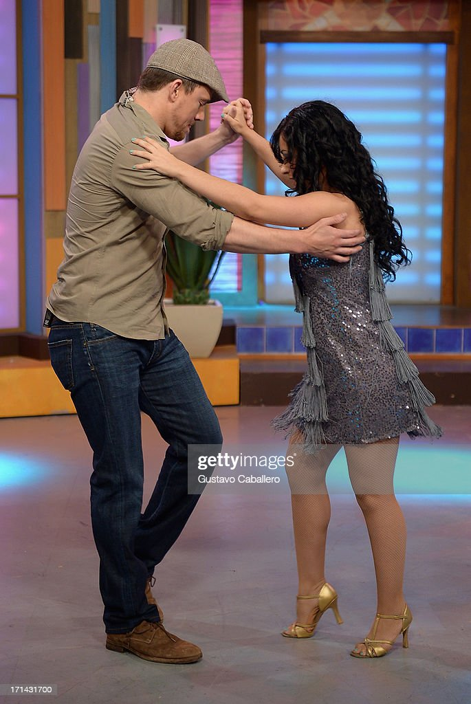 <a gi-track='captionPersonalityLinkClicked' href=/galleries/search?phrase=Channing+Tatum&family=editorial&specificpeople=549548 ng-click='$event.stopPropagation()'>Channing Tatum</a> appears on Univision's 'Despierta America' to promote film 'White House Down' at Univision Headquarters on June 24, 2013 in Miami, Florida.