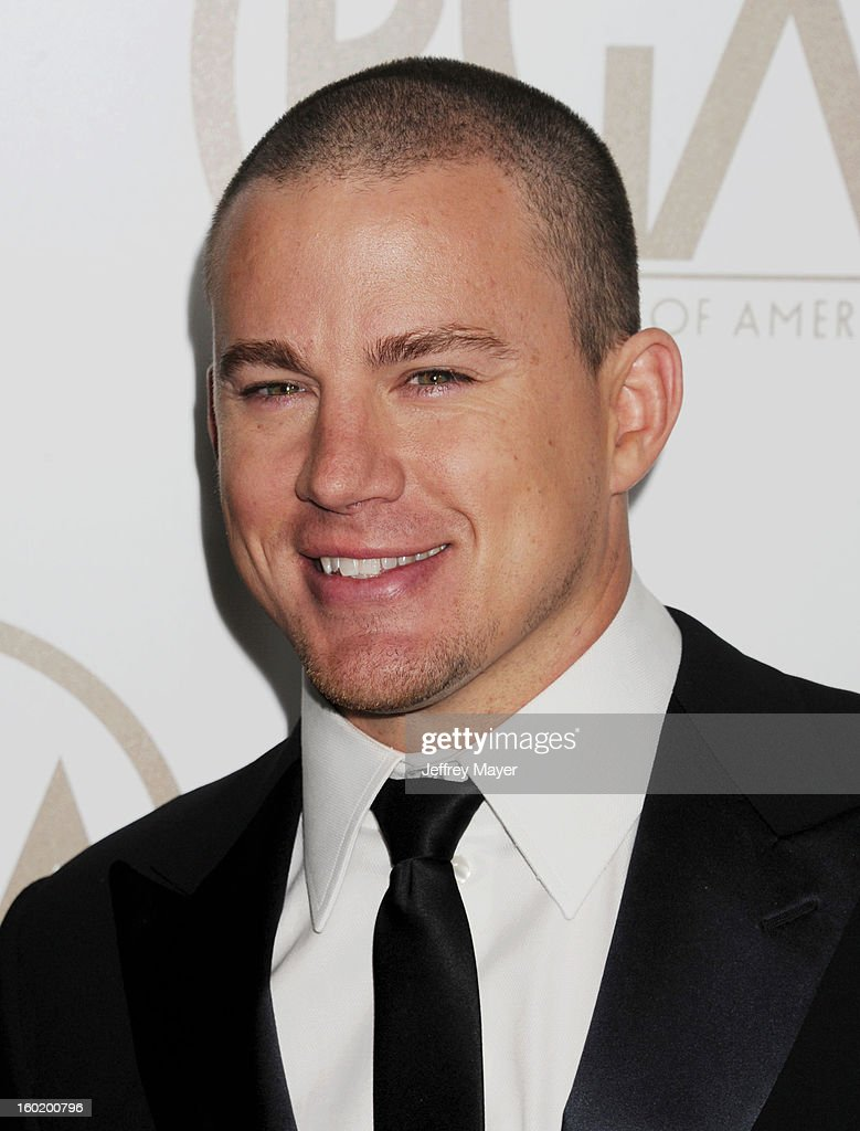 Channing Tatum arrives at the 24th Annual Producers Guild Awards at The Beverly Hilton Hotel on January 26, 2013 in Beverly Hills, California.