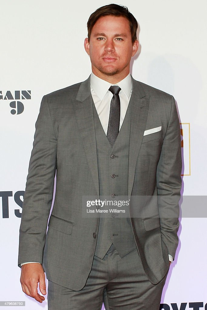 <a gi-track='captionPersonalityLinkClicked' href=/galleries/search?phrase=Channing+Tatum&family=editorial&specificpeople=549548 ng-click='$event.stopPropagation()'>Channing Tatum</a> arrives at the 'Magic Mike XXL' Australian premiere on July 6, 2015 in Sydney, Australia.