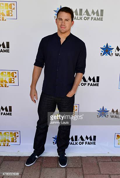 Channing Tatum attends as the 'Magic Mike XXL' cast are honored with stars on The Official Miami Walk Of Fame at Bayside Marketplace on June 24 2015...