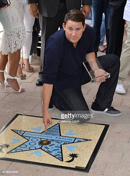 Channing Tatum attends Magic Mike XXL cast honored with stars on The Official Miami Walk Of Fame at Bayside Marketplace on June 24 2015 in Miami...
