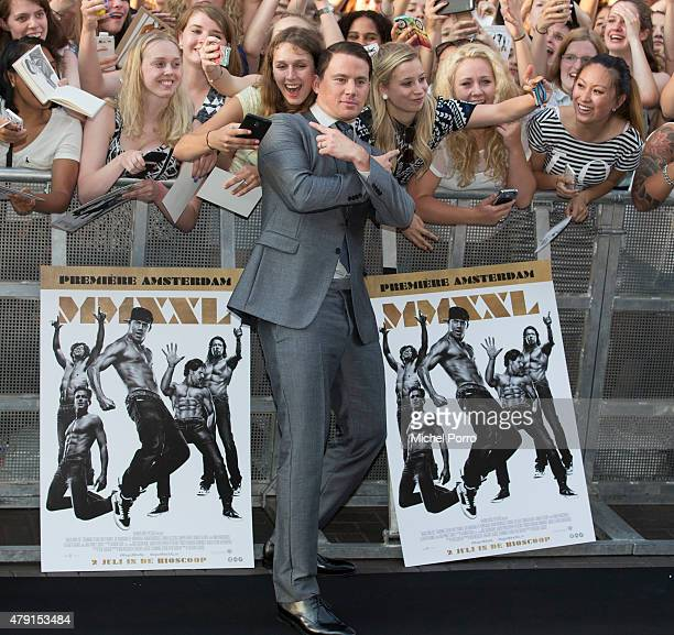 Channing Tatum attends the Amsterdam premiere of Magic Mike XXL on July 1 2015 in Amsterdam Netherlands