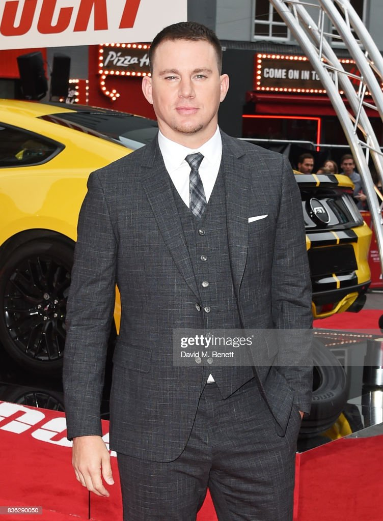 Channing Tatum attends the 'Logan Lucky' UK Premiere at Vue West End on August 21, 2017 in London, England.