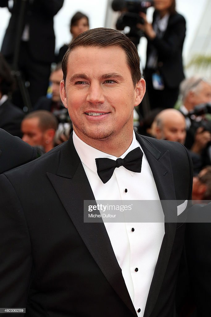 <a gi-track='captionPersonalityLinkClicked' href=/galleries/search?phrase=Channing+Tatum&family=editorial&specificpeople=549548 ng-click='$event.stopPropagation()'>Channing Tatum</a> attends the Premiere of 'Foxcatcher' at the 67th Annual Cannes Film Festival on May 19, 2014 in Cannes, France.